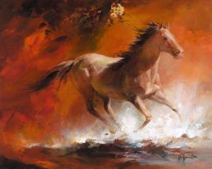 Wild Horses I by Willem Haenraets