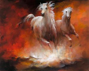 Wild Horses II by Willem Haenraets