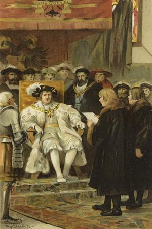 Inauguration of Charles V, Groningen, Netherlands, 1523
