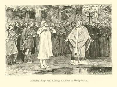 Wulfram Fails to Baptise Radbod, King of the Frisians