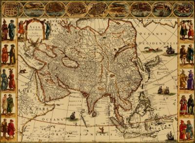 Antique Maps III by Willem Janszoon Blaeu