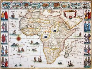 Map Of Africa, 1630 by Willem Janszoon Blaeu