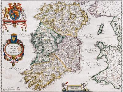 Map of Ireland, 1635