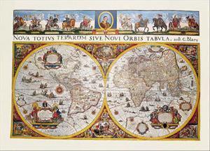 World Map by Willem Janszoon Blaeu