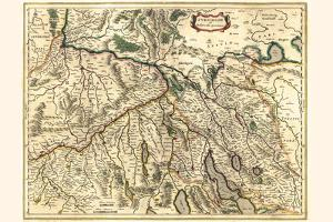 Zürich And The Province Of Basel by Willem Janszoon Blaeu