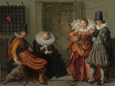 Elegant Couples Courting, c. 1616-20