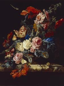 A Vase of Flowers, 1663 by Willem van Aelst