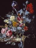 A Vase of Flowers with a Watch-Willem van Aelst-Giclee Print