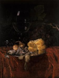 Still Life with Herring by Willem van Aelst