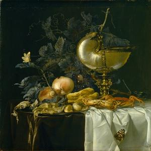 Still-Life with Nautilus Cup by Willem van Aelst