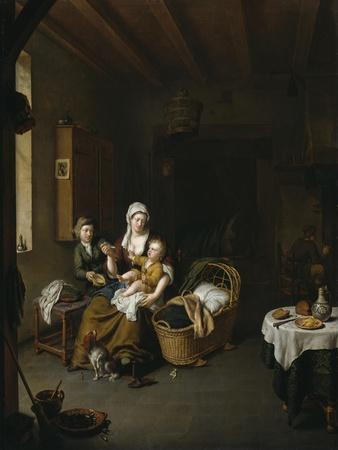 A Mother Feeding Her Child (The Happy Mother), 1707