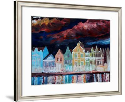 Willemstad Curacao At Night Stretched Canvas Print M Bleichner Art Com