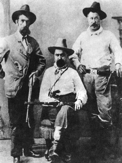 William a Pinkerton, Flanked by Two Express Agents, C1870S-1880S--Giclee Print