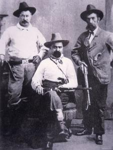 William A. Pinkerton with Special Agents Used For Western Trailing, c.1875