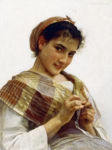 A Breton Girl, 1889 by William Adolphe Bouguereau