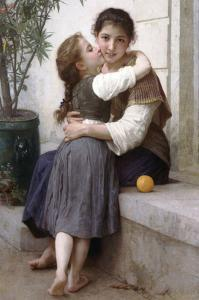 A Little Coaxing by William Adolphe Bouguereau