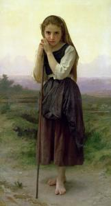 A Little Shepherdess, 1891 by William Adolphe Bouguereau