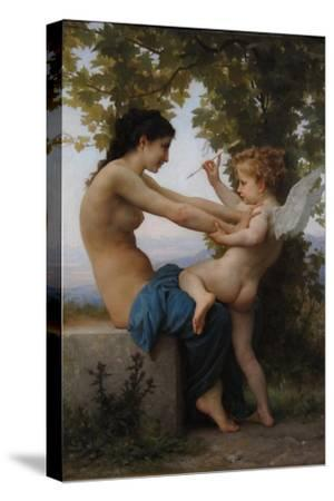 A Young Girl Defending Herself Against Eros, 1880