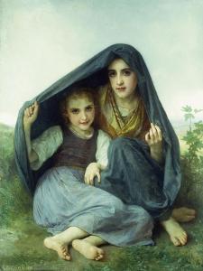 L'Abri by William Adolphe Bouguereau