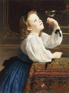 L'Oiseau Cheri, 1867 by William Adolphe Bouguereau