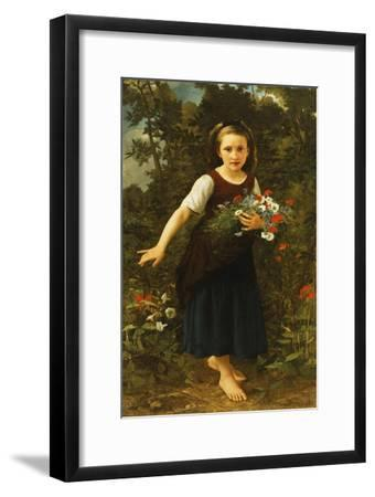 Little Girl by the Brook Holding a Sheaf of Flowers, 1886