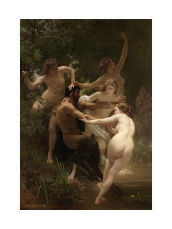 Nymphs and Satyr