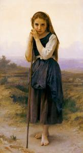 Petite Bergere by William Adolphe Bouguereau