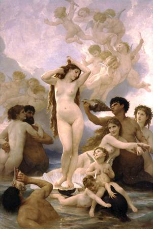 The Birth of Venus by William Adolphe Bouguereau