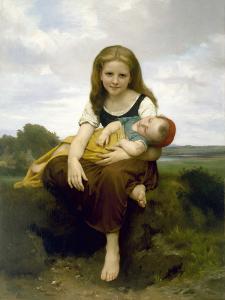 The Elder Sister (La Soeur Aîné), 1869 by William-Adolphe Bouguereau