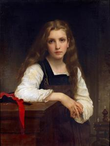 The Fair Spinner by William Adolphe Bouguereau