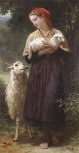 The Newborn Lamb by William Adolphe Bouguereau