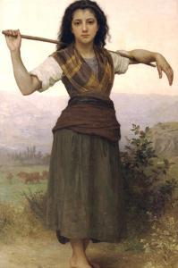The Shepherdess by William Adolphe Bouguereau