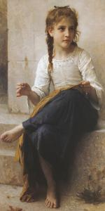 The Young Seamstress by William Adolphe Bouguereau
