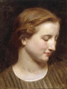 Woman in a Striped Dress by William Adolphe Bouguereau