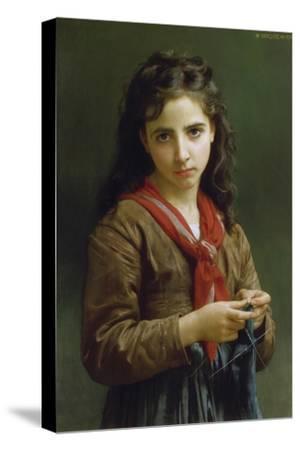 Young Girl Knitting, 1874