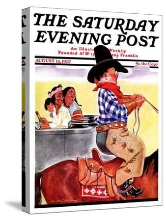 """Modern Indians and Dude,"" Saturday Evening Post Cover, August 14, 1937"