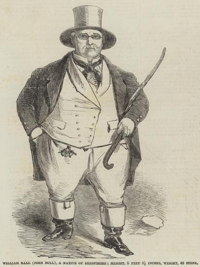 William Ball (John Bull), a Native of Shropshire--Giclee Print