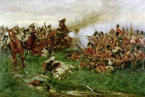 The 28th (1st Gloucestershire Regiment) at Waterloo, 1914 by William Barnes Wollen