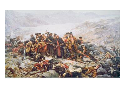 The Last Stand of the 44th Regiment at Gundamuck during the Retreat from Kabul, 1841, 1898
