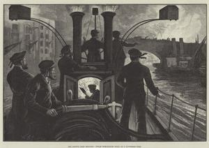 The London Fire Brigade, Steam Fire-Engine Going to a Riverside Fire by William Bazett Murray