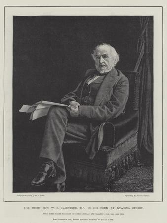 The Right Honourable W E Gladstone, Mp, in His Room at Downing Street