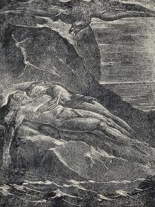 Albion on the Rock, from Milton by William Blake