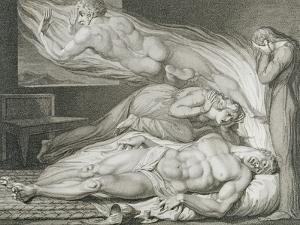 Death of the Strong Wicked Man by William Blake