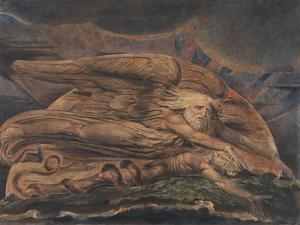 Elohim Creating Adam by William Blake