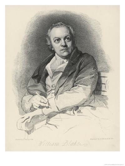 William Blake English Artist Poet and Mystic-Luigi Schiavonetti-Giclee Print
