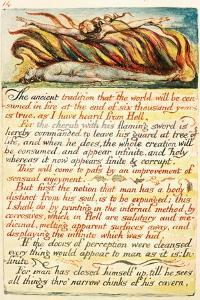 Illustration from 'The Marriage of Heaven and Hell', C.1808 by William Blake