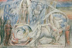 Illustrations to Dante's 'Divine Comedy', Beatrice Addressing Dante from the Car by William Blake