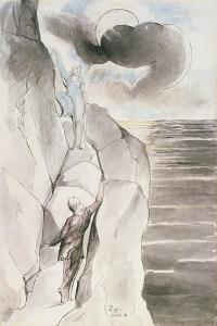 Illustrations to Dante's 'Divine Comedy', the Ascent of the Mountain of Purgatory by William Blake