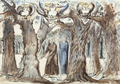Illustrations to Dante's Divine Comedy, the Wood of the Self-Murderers