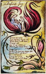 Infant Joy', Plate 23 from 'Songs of Innocence and of Experience [Bentley 25] C.1789-94 by William Blake